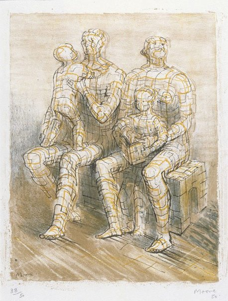 An image of Family group by Henry Spencer Moore