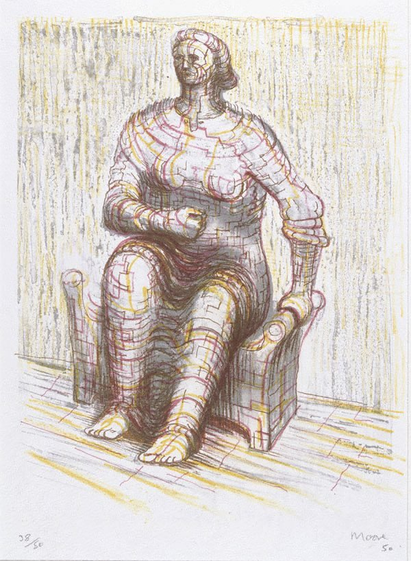 An image of Seated figure