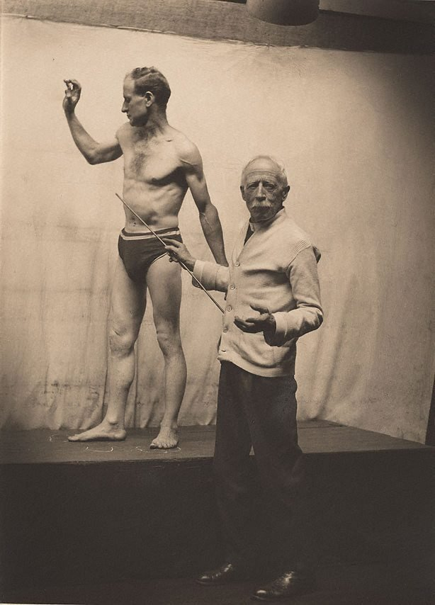 An image of Julian Ashton with life model
