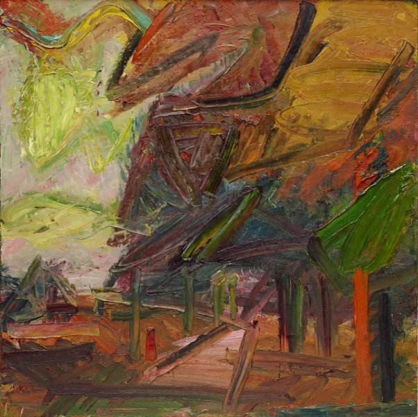 Primrose Hill, autumn, (1984) by Frank Auerbach
