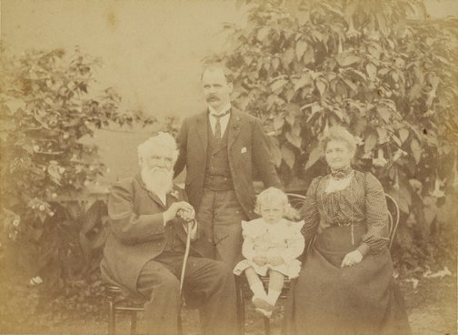 An image of Untitled (outdoor family portrait) by Henry King