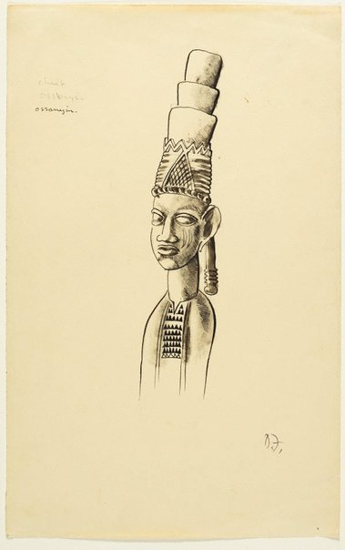 An image of Chief Ossanyin by Donald Friend