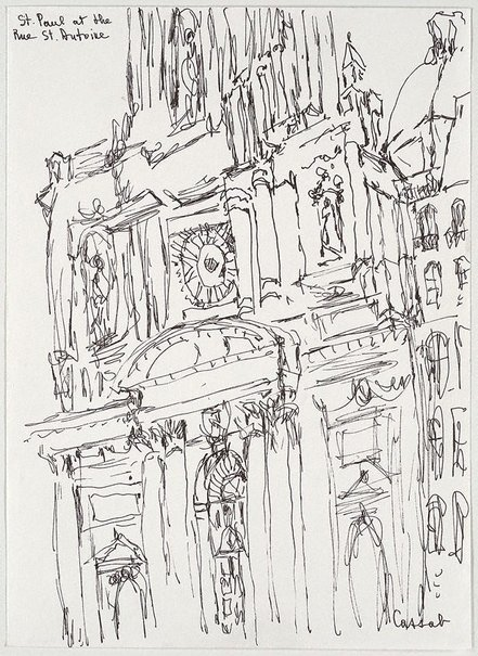 An image of St Paul at the Rue St Antoine by Judy Cassab