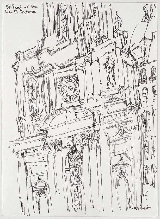 An image of St Paul at the Rue St Antoine