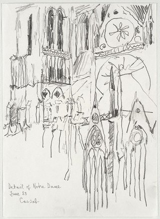 AGNSW collection Judy Cassab Detail of Notre Dame (Paris) Jun 1989