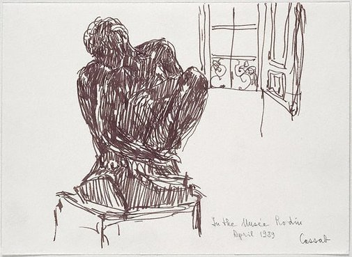 An image of In the Musée Rodin (Paris) by Judy Cassab