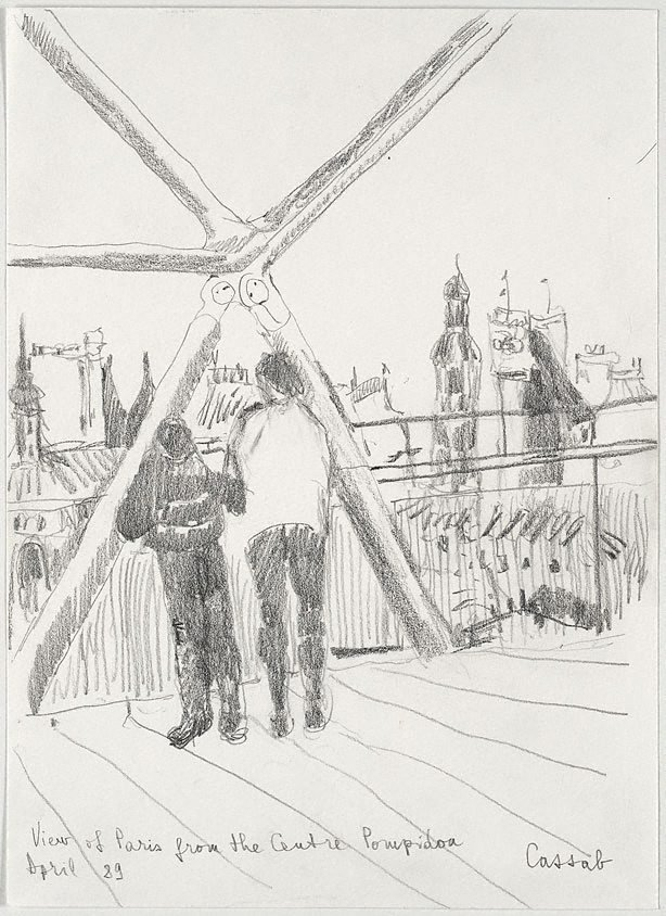 An image of View of Paris from the Centre Pompidou