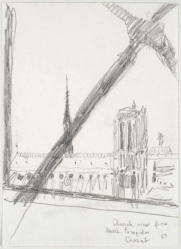 An image of Church view from Musée Pompidou