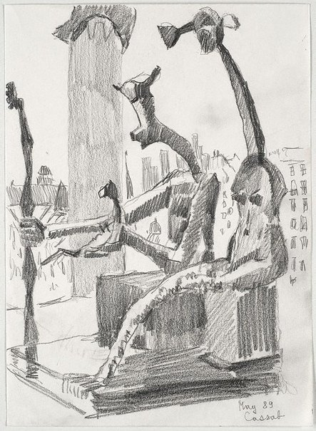 An image of (Max Ernst's 'King and Queen', Musée Pompidou, Paris) by Judy Cassab