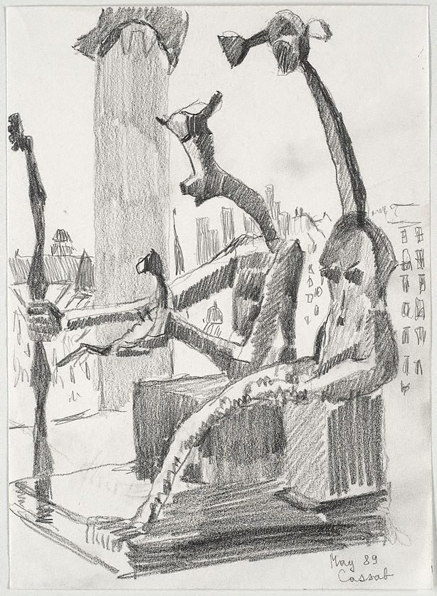 An image of (Max Ernst's 'King and Queen', Musée Pompidou, Paris)