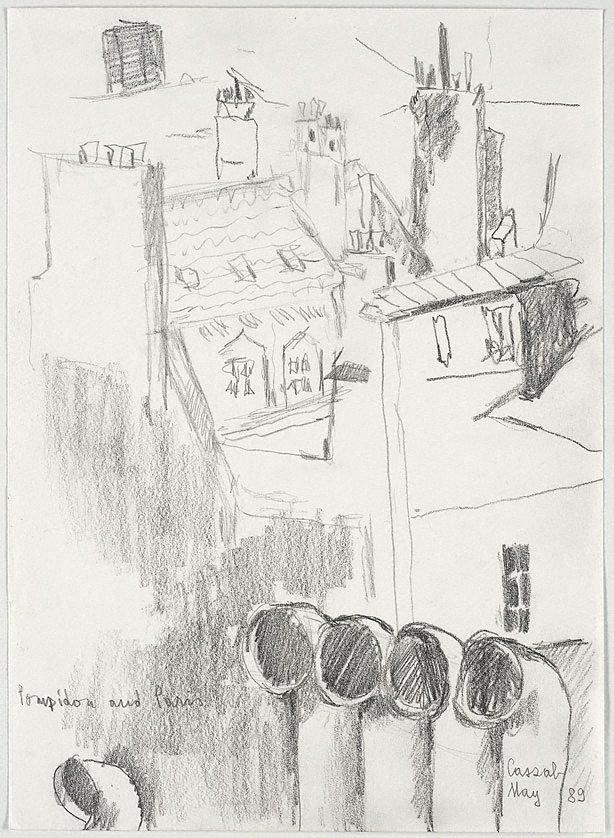 An image of Pompidou and Paris