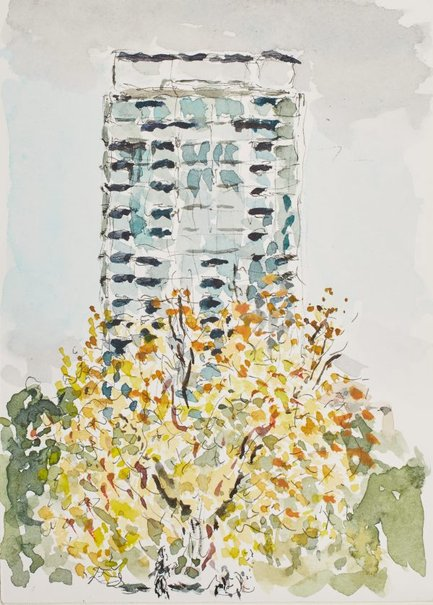 An image of The Hyde building, from Hyde Park III by Tom Carment