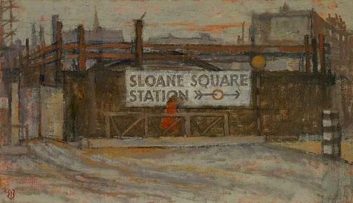 An image of Sloane Square Station by Edward Bishop