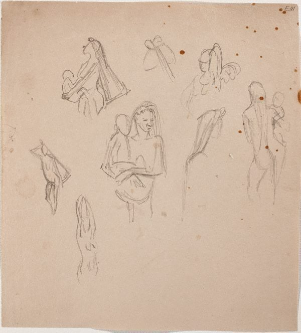 An image of (Studies of women and children) (Landscapes and natives from New Guinea)