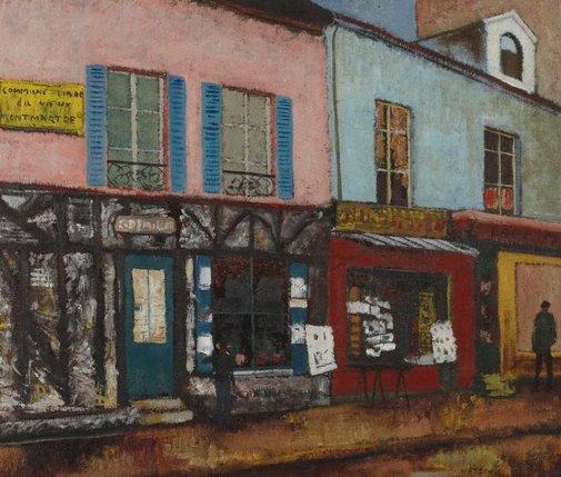 An image of Montmartre shops by Douglas Watson