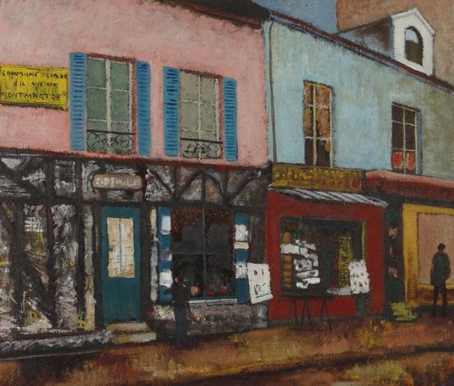 An image of Montmartre shops