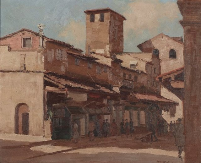 An image of Shops on Ponte Vecchio, Florence