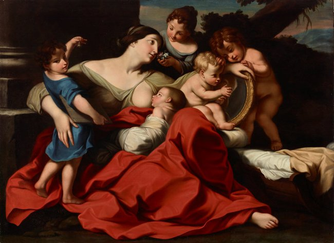 AGNSW collection attrib. Carlo Cignani The five senses (1670s) 8659