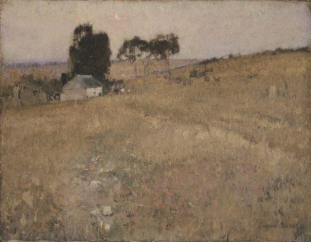 A summer evening, (circa 1895) by David Davies