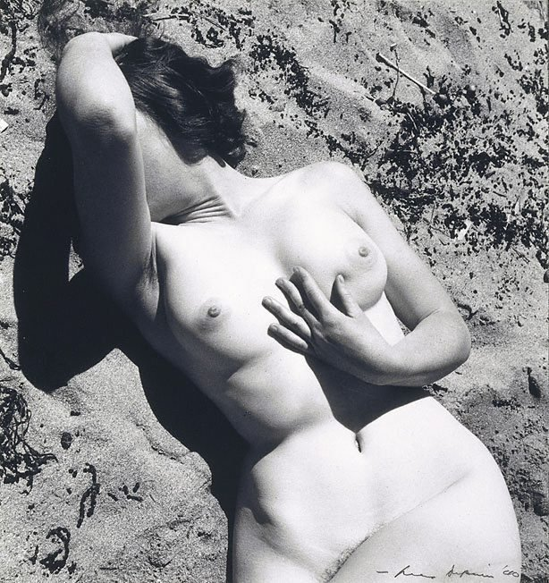 An image of Untitled (Nude in sand)