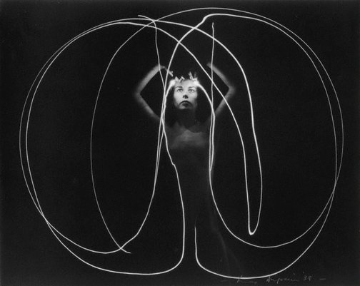 An image of Untitled (Nude with light traces) by Max Dupain