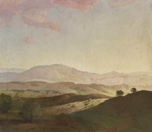 An image of Evening on the Bathurst Hills by Lloyd Rees