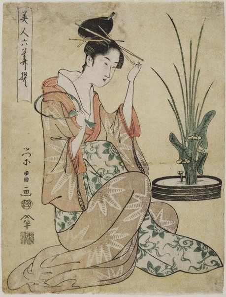 An image of (Sitting woman) by Hosoda Eishô