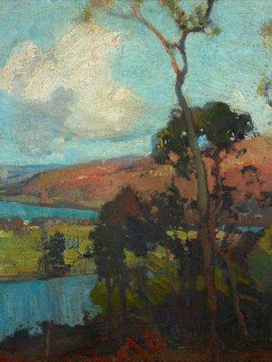 Alternate image of Hawkesbury landscape by Sydney Long