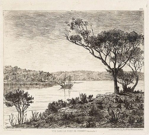 An image of A view of Sydney Harbour by E.L. Montefiore