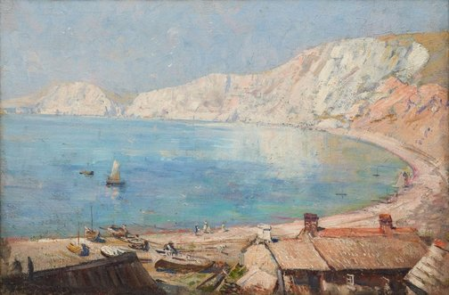 An image of Worbarrow Bay by Arthur Streeton