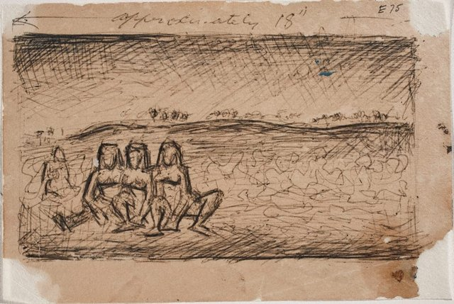 An image of New Guinea figures - study for 'Love song'