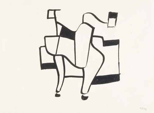 An image of Abstract drawing by Ludwig Hirschfeld-Mack