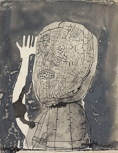 An image of Man's head by Sir Eduardo Paolozzi