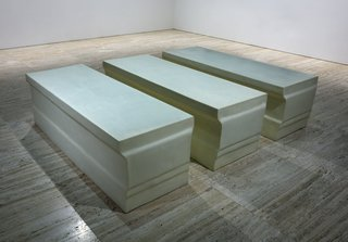 AGNSW collection Rachel Whiteread Untitled (elongated plinths) (1998) 87.1999.a-c