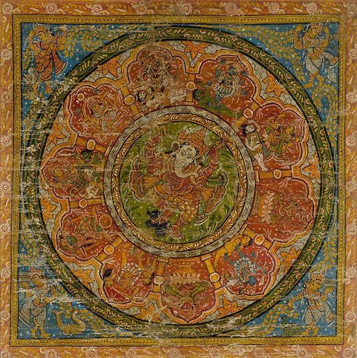 An image of Dancing Ganesh and the Mahavidyas by