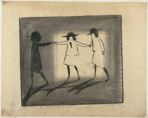 An image of Trio by Charles Blackman