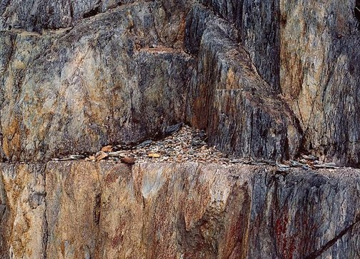 An image of Queenstown rocks No. 4, Tasmania by David Moore