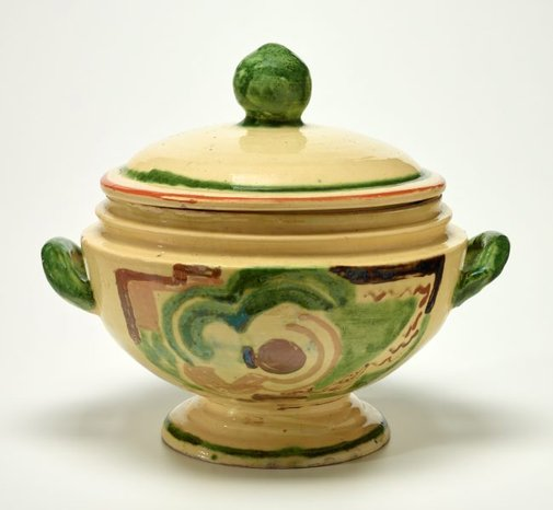 An image of Tureen with cubist design by Anne Dangar