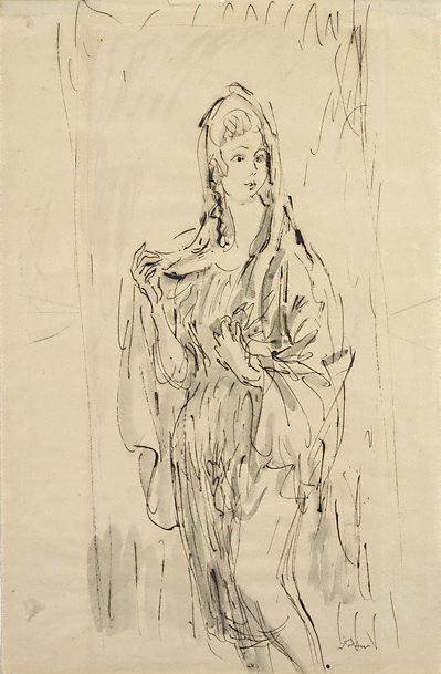 An image of Study for 'The Virgin'