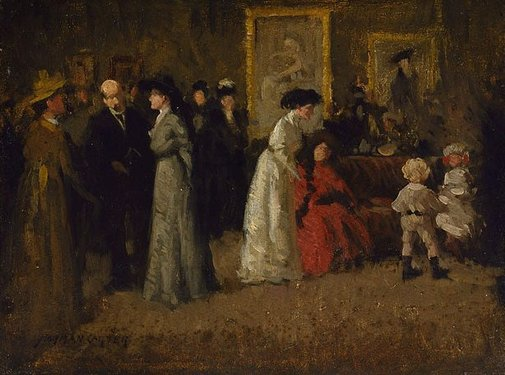 An image of The private view by Norman Carter
