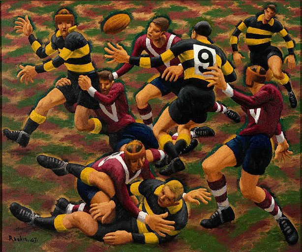 An image of Dance of the football field