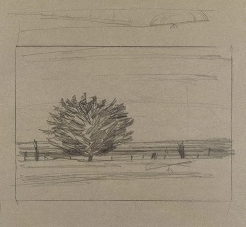 An image of A tree on the shore of the bay, Corio by Ludwig Hirschfeld-Mack