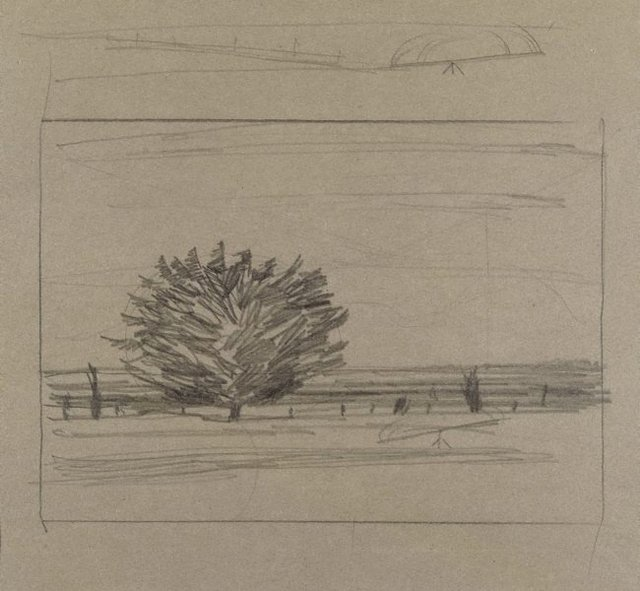 An image of A tree on the shore of the bay, Corio