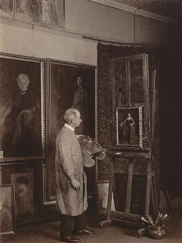 An image of Norman Carter in his studio