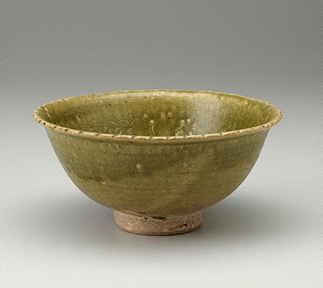 An image of Bowl with green glaze by
