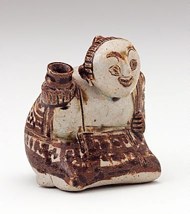 An image of Censer in the form of a kneeling woman by Sawankhalok ware