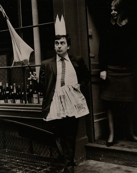 An image of Dudley Moore as the Fairy Queen, Frith Street, London, for 'Private Eye' by Lewis Morley