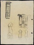Alternate image of recto: Furniture verso: Shop fittings and dummies by Lloyd Rees