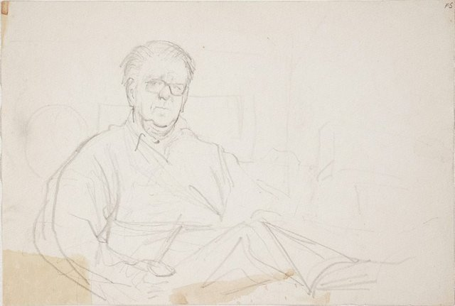 An image of (Portrait study of man with glasses) (Late Sydney Period)