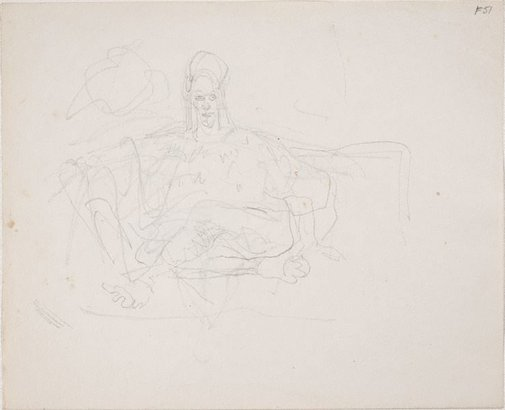 An image of (Study of figure seated) (Late Sydney Period) by William Dobell